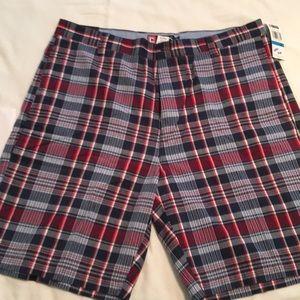 "NWT, 36"" Waist Ralph Lauren, Chaps Plaid shorts"